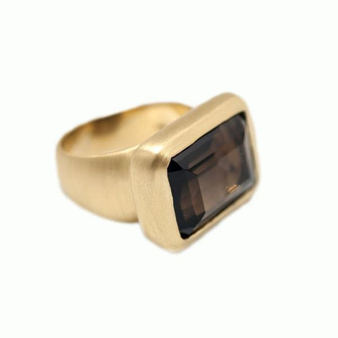 Smoky Topaz Ring - Alice & Chains Jewelry, Houston Jewelry Designer