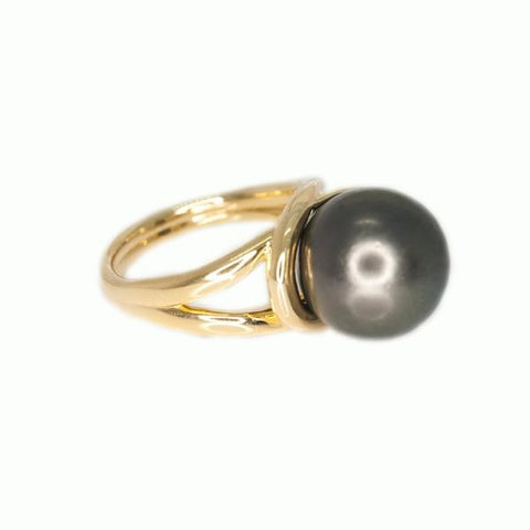Tahitian Pearl Ring - Alice & Chains Jewelry, Houston Jewelry Designer