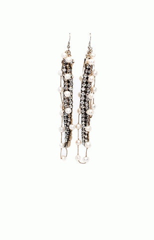 Vintage Pearls & Sparkles Earrings - Alice & Chains Jewelry, Houston Jewelry Designer