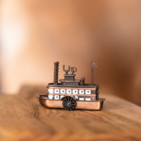 Antique Finished Die Cast 3.5 inch Miniature Paddle Wheeler Pencil Sharpener