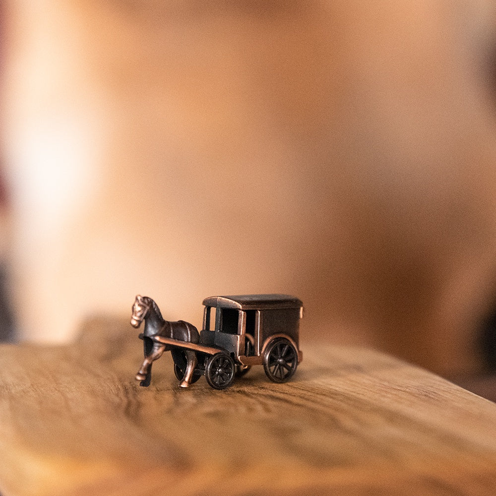 Pencil Sharpener Die Cast Horse and Milk Cart