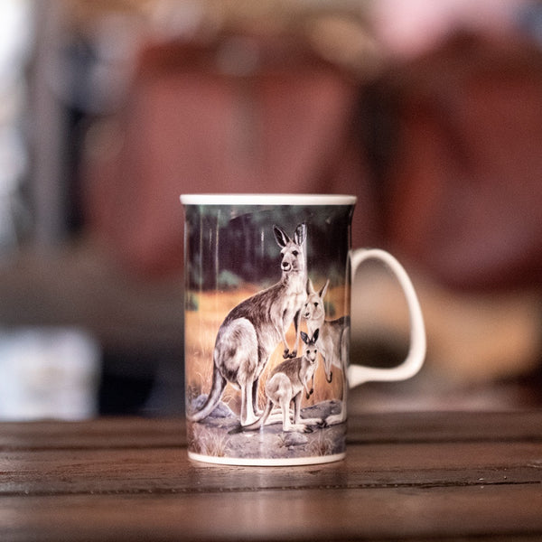 Kangaroo Family Can Mug