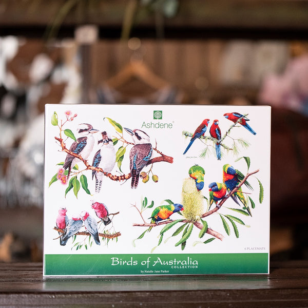 Birds of Australia Placemats Set of 6