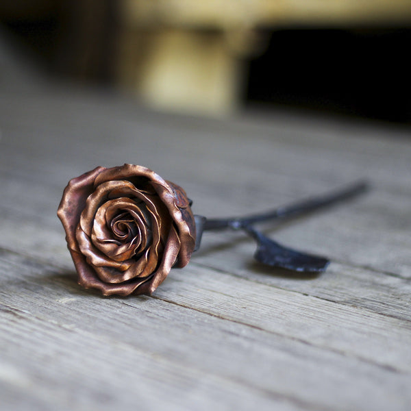 Kinnon and Co Hand Forged Copper and Metal Rose