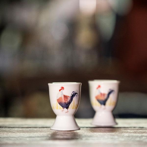 Ashdene Country Chickens Collection - Rooster Egg Cup