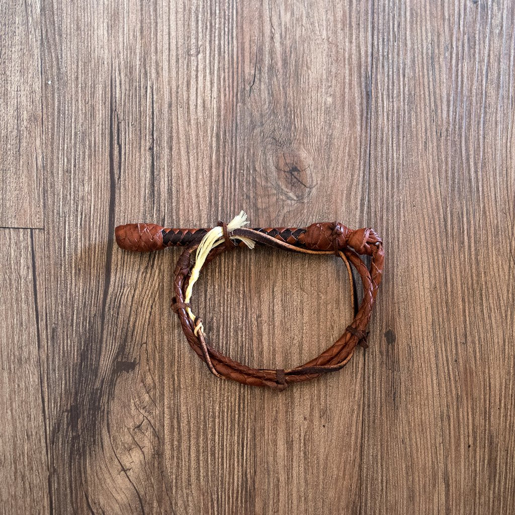 Mini plaited Kangaroo leather whip