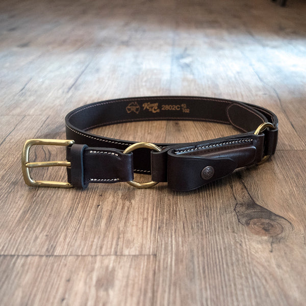 Leather Hobble Belt with Clip Pouch