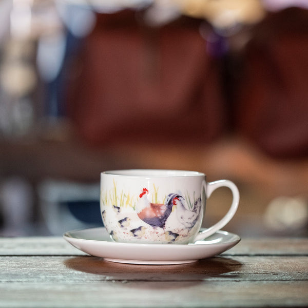 Ashdene Country Chickens Collection - Teacup and Saucer