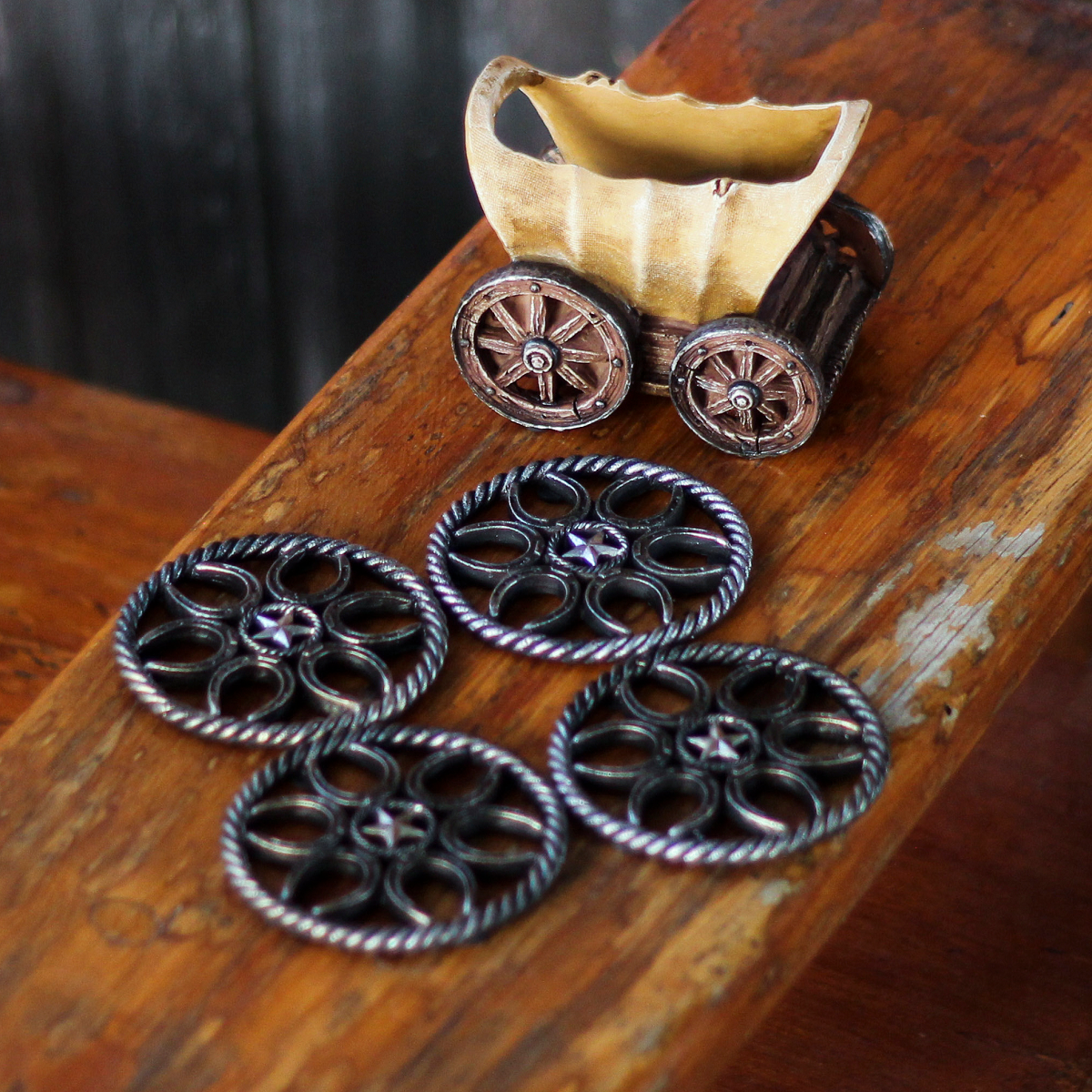 Coaster Western Wagon Wheel Set of 4