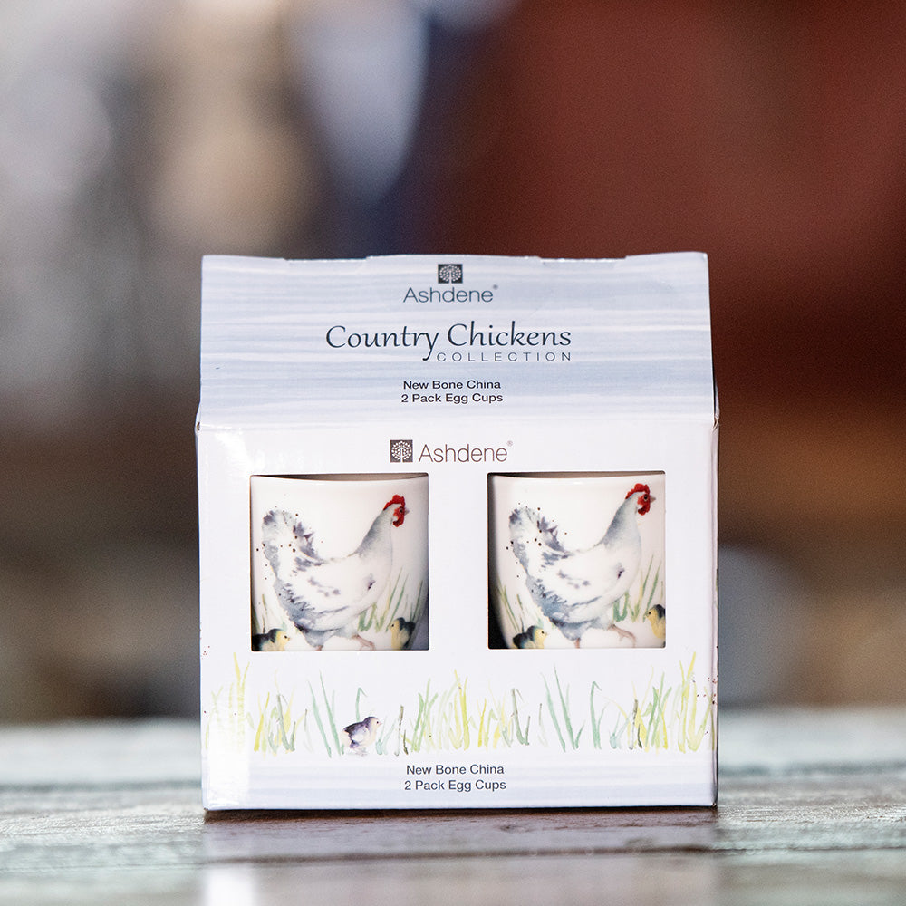 Boxed Ashdene Country Chickens Collection - Chicken Egg Cup
