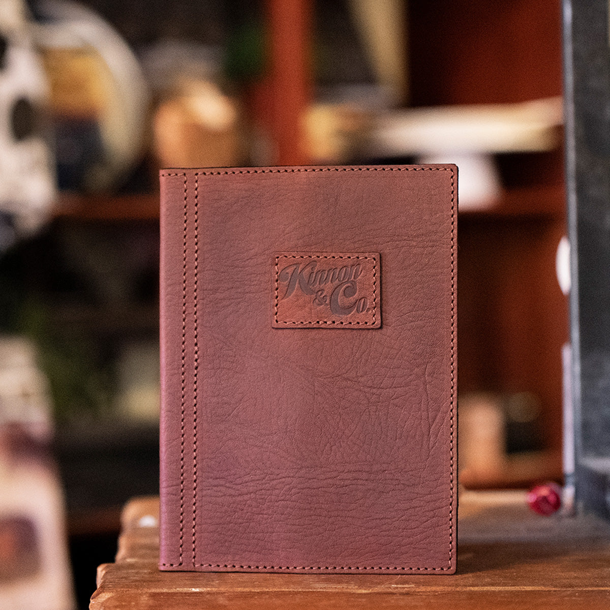 Kinnon and Co branded leather A5 diary cover