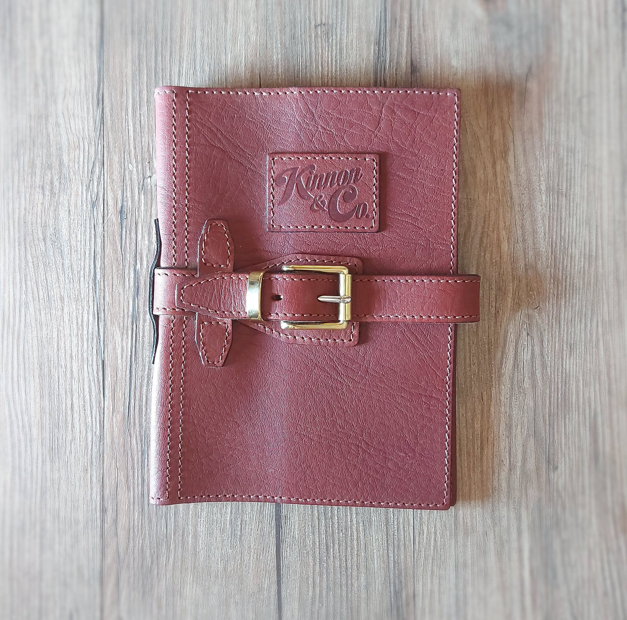 Kinnon & Co Diary Cover with Strap Leather A5