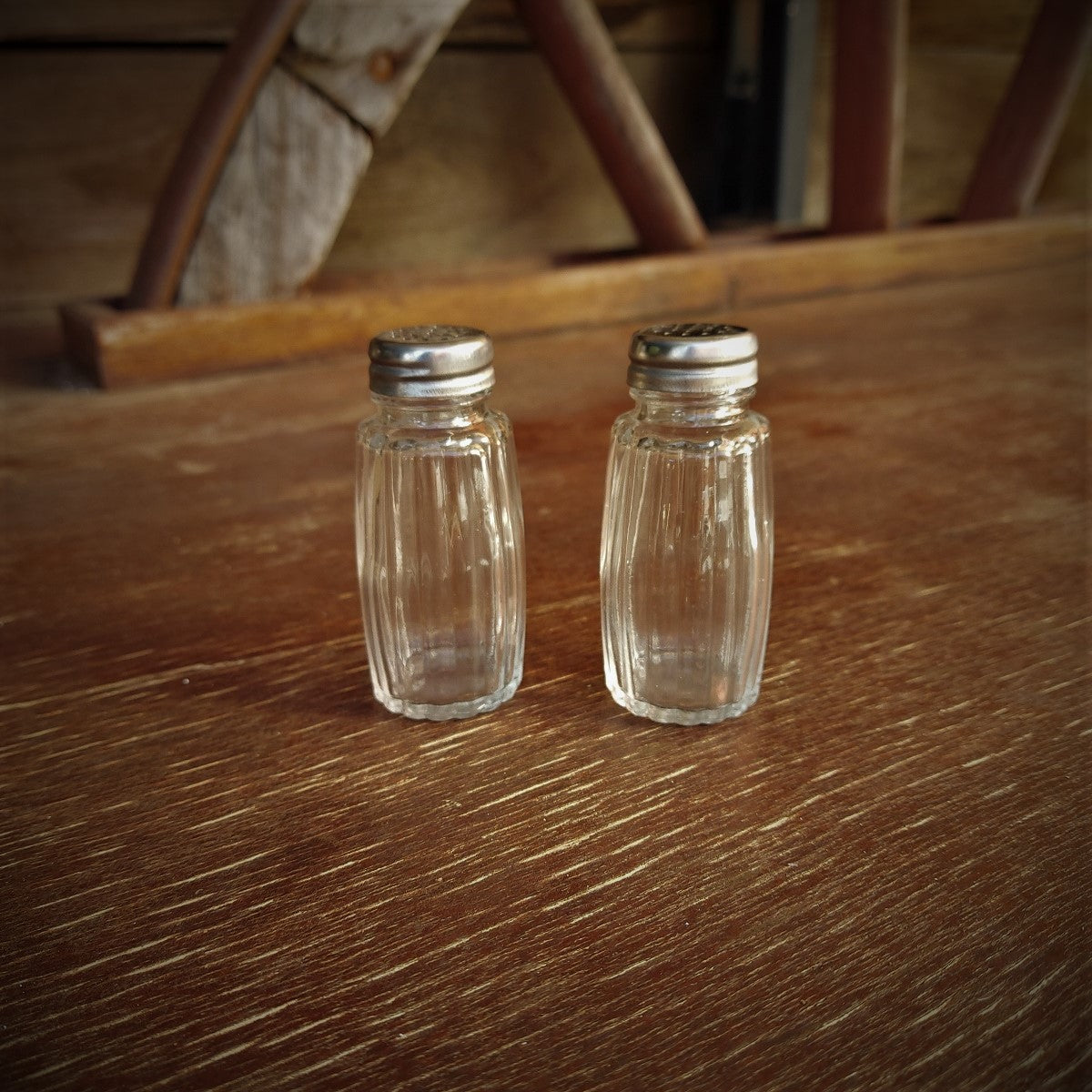 Western Wagon Wheel Salt & Pepper Shakers