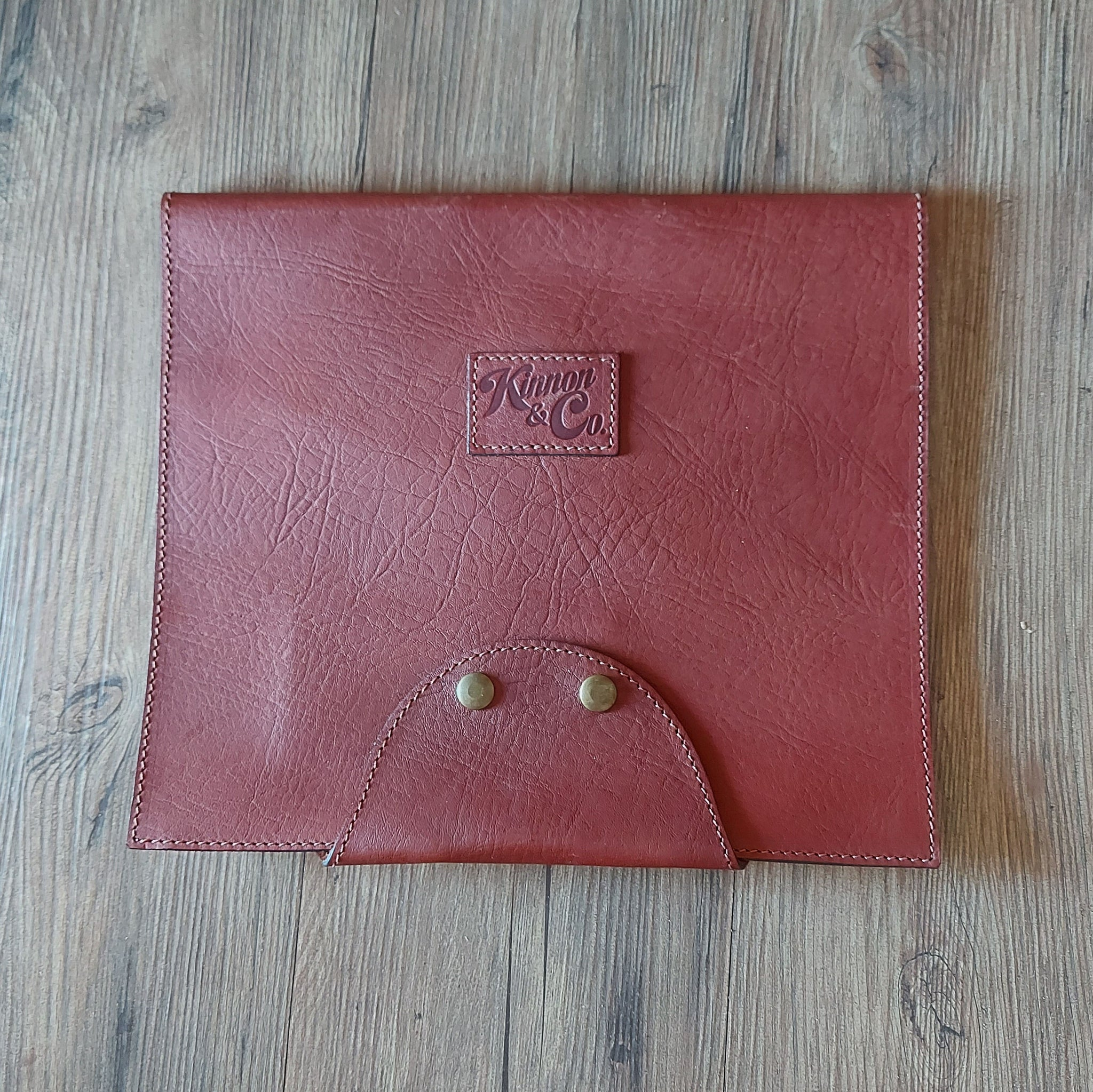 Kinnon & Co Truck Log Book Cover Leather Tan