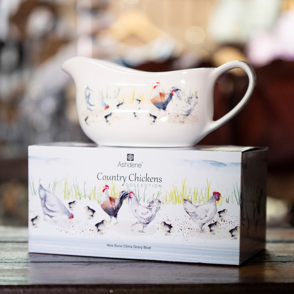 Ashdene Country Chickens Gravy Boat