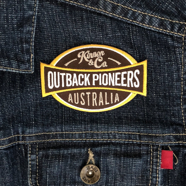 Outback Pioneers Embroidered Badge - iron on