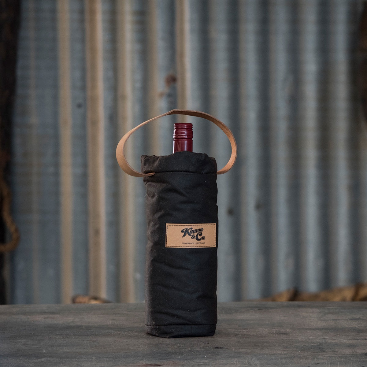 Kinnon and Co Oilskin Woolly Wine Cooler - Single Bottle