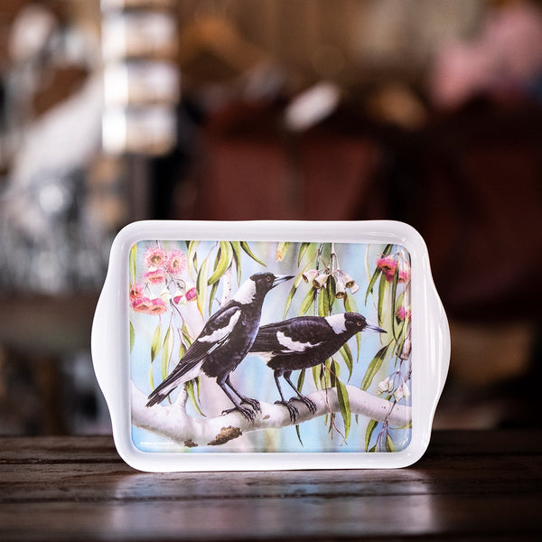 Aus Bird & Flora Magpie and Red Gum Scatter Tray