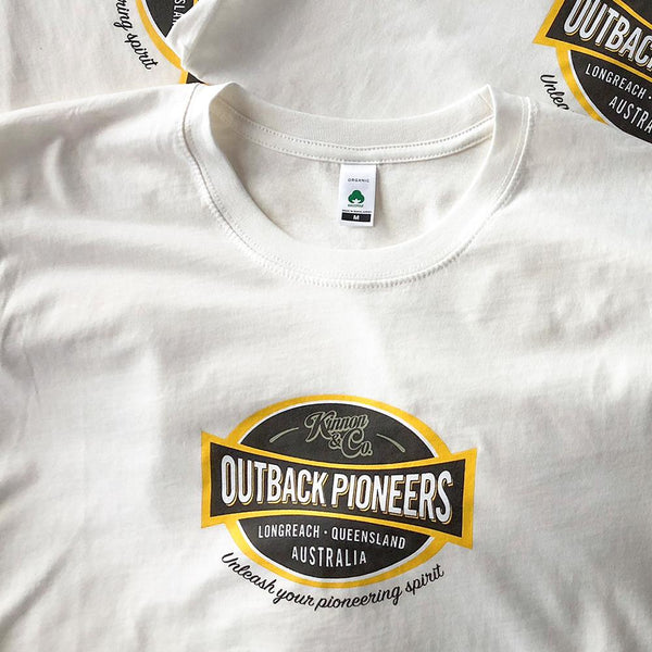 Outback Pioneers Organic Cotton T-Shirt with logo