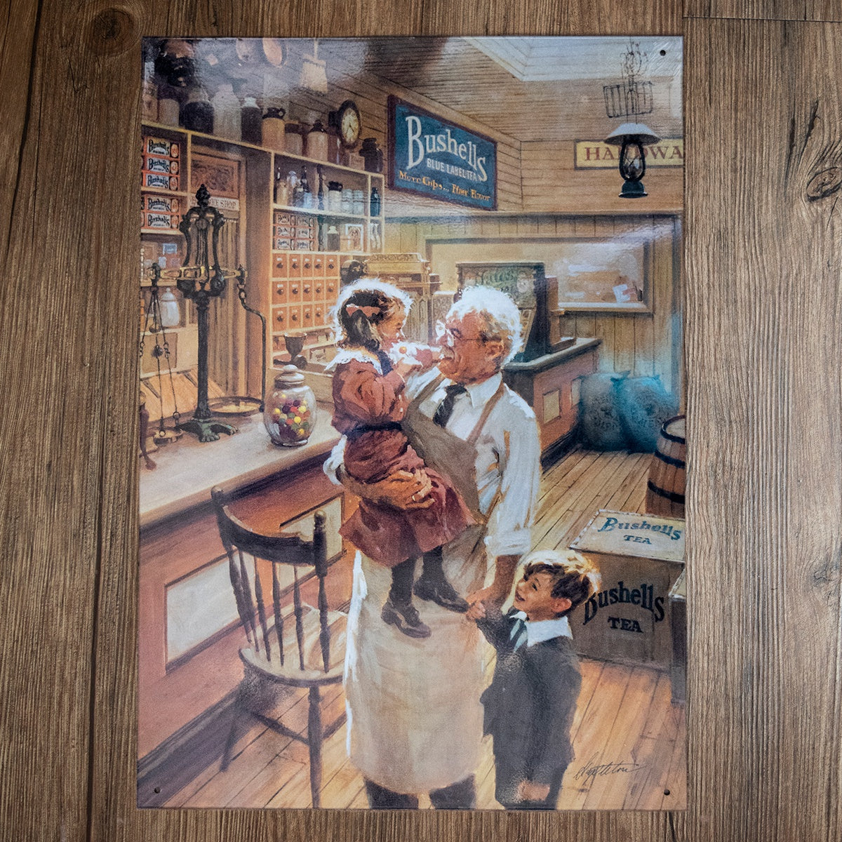 Bushell's Shop Interior Tin Sign