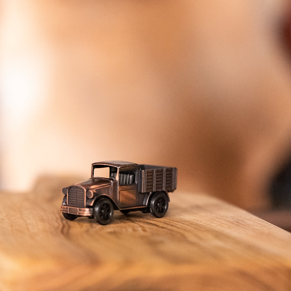 Antique finished die cast miniature truck pencil sharpener