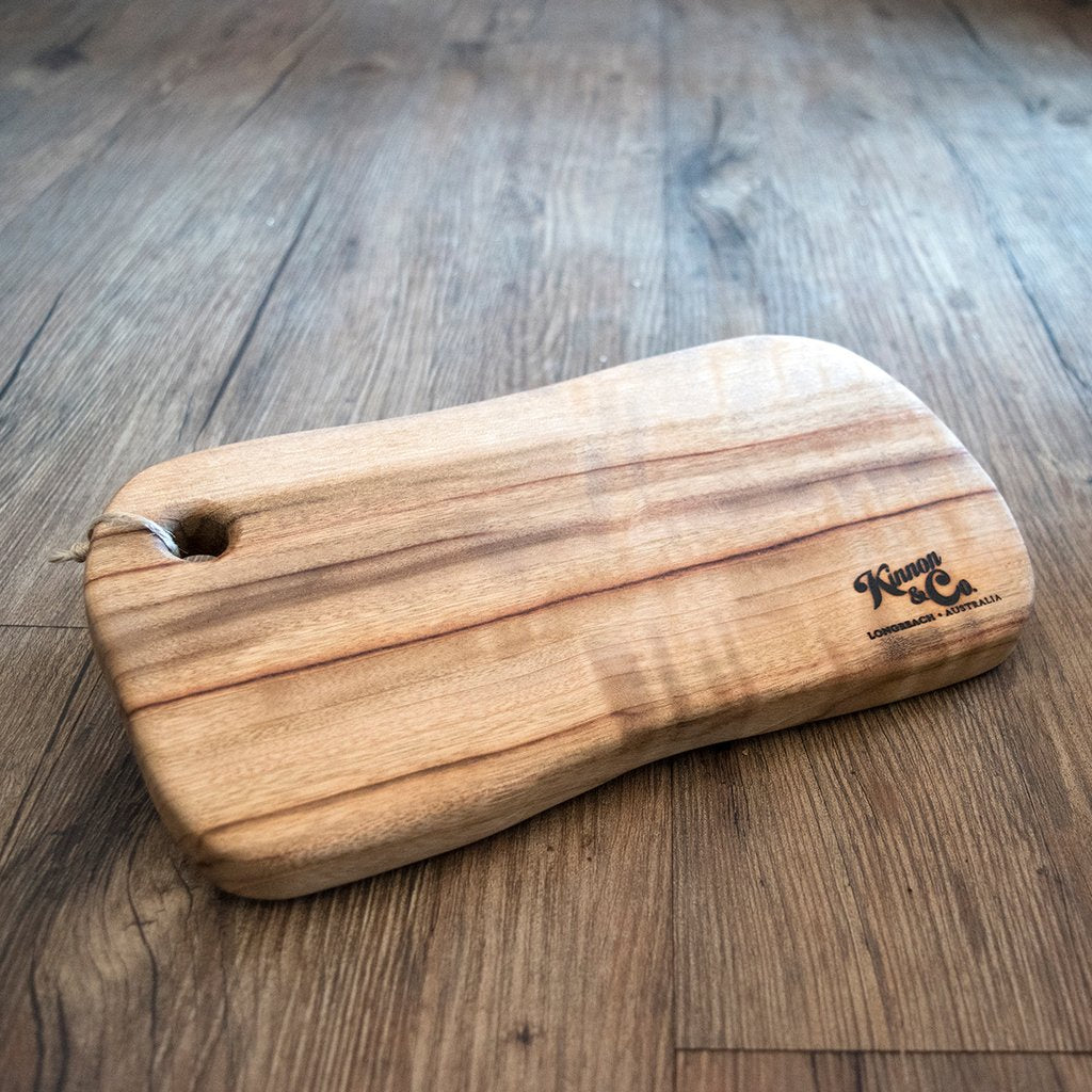 Freeform Camphor Laurel Cutting Board - Size 29 x 15 x 2cm branded Kinnon and Co