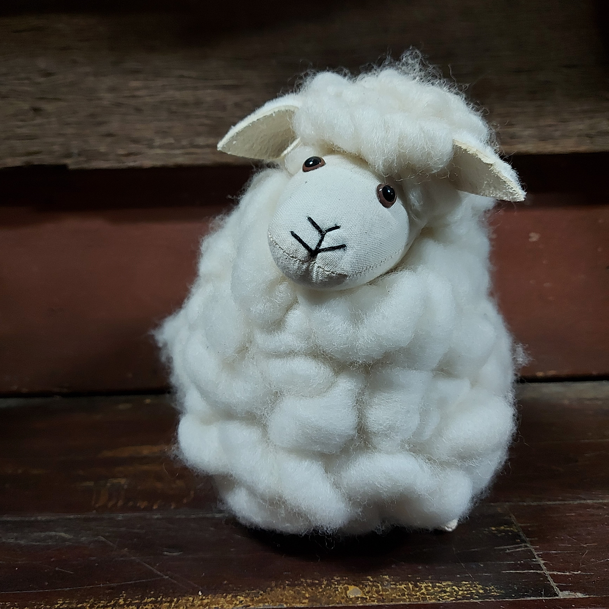 Soft Toy Sheep Handmade Loopy with Baa 25cm