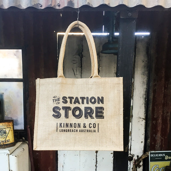The Station Store Jute Carry Bag