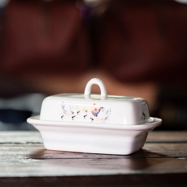 Ashdene Country Chickens Butter Dish