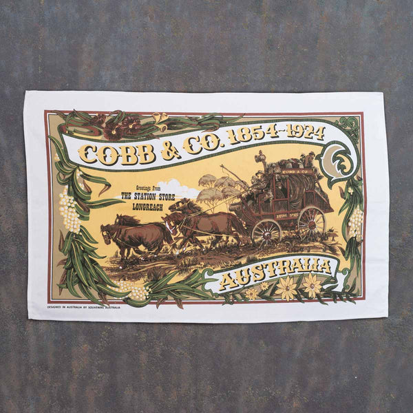 Cobb and Co tea towel