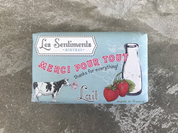 Les Sentiments Milk Soap – thanks for everything