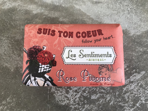 Les Sentiments Peony Rose Soap – follow your heart