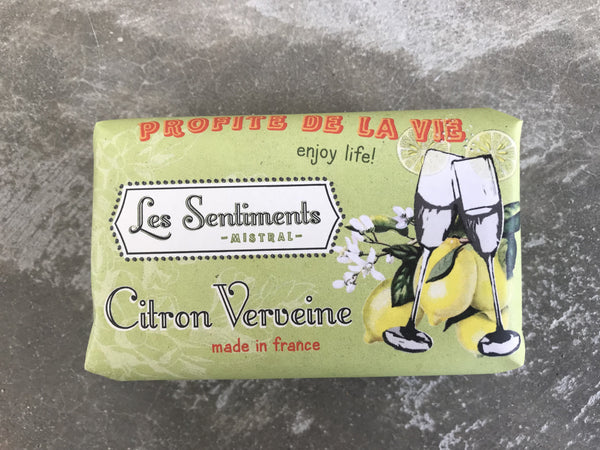 Les Sentiments Citron Vervaine Soap – enjoy life