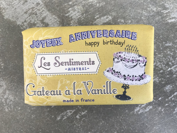 Les Sentiments Vanilla Cake Soap – Happy Birthday!