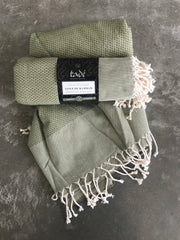 Cotton Hammam Towel (Laurel Green)