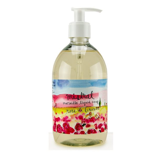 Marseille Liquid soap ROSE DE GRASSE SUR LA ROUTE (500 ml)