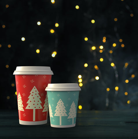 Festive double wall cups