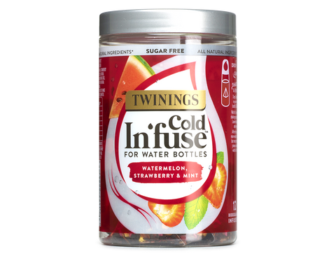 Twinings COLD INFUSE - WATERMELON, STRAWBERRY & MINT (12x2.5g sachets in container)