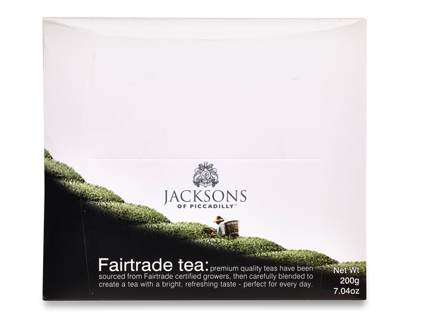 Jacksons Fairtrade String and Tag Tea Bags (100x2g)