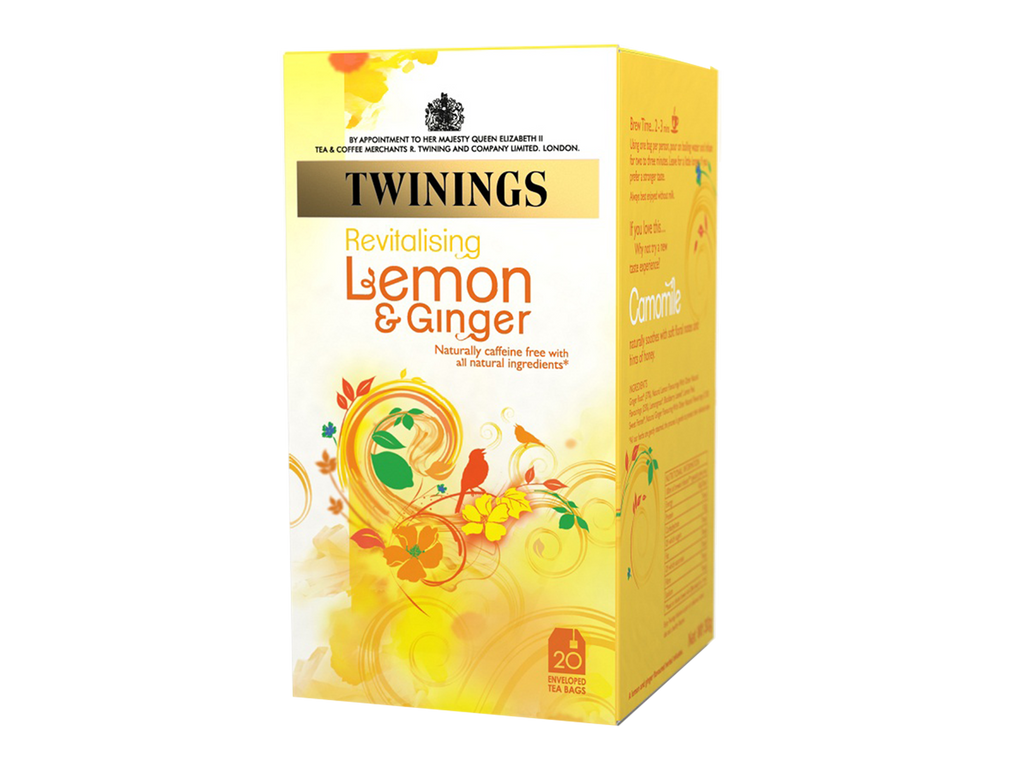 Twinings Lemon and Ginger Envelope Herbal (1x20)