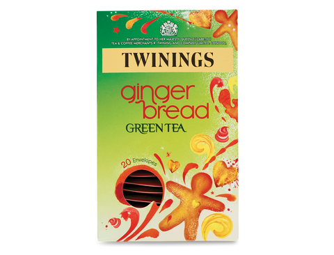 Twinings Gingerbread Green Tea String and Tag Envelopes (1x20)