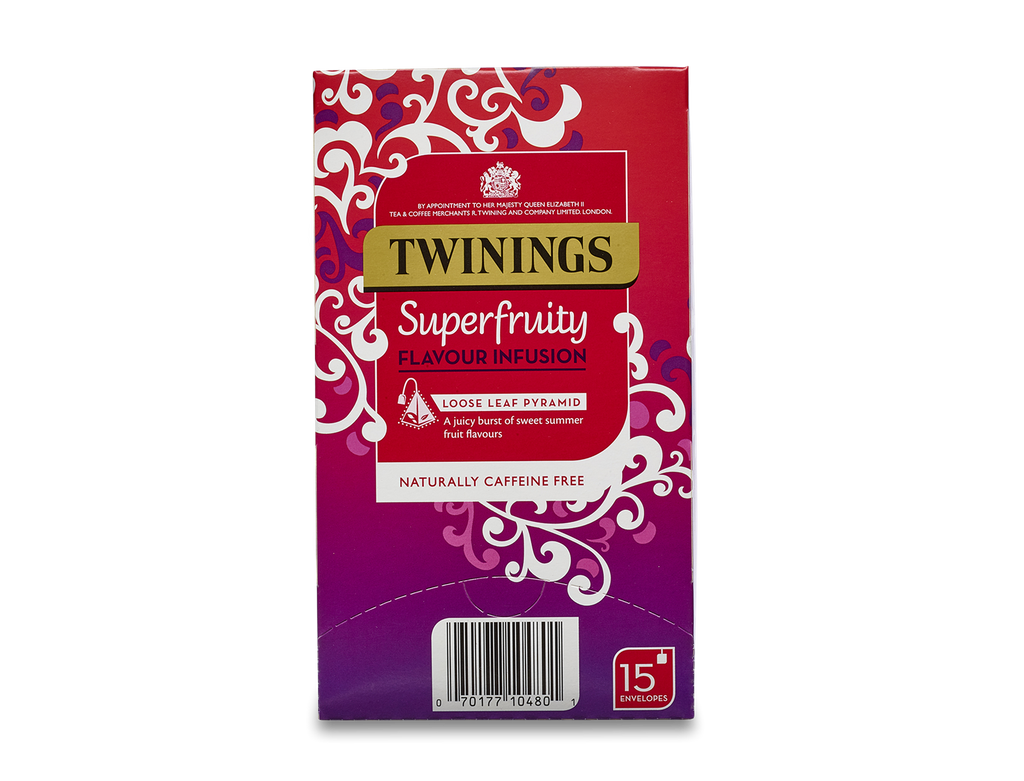 Twinings Super Fruity Silky Pyramid Infusiuons (4x15x3g)