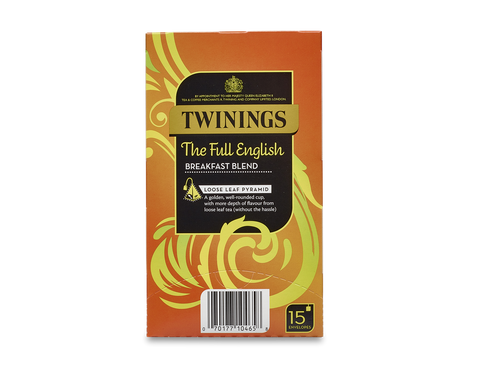 Twinings Whole Leaf Silky Pyramid Envelope The Full English Breakfast Blend (4x15x2.5g)