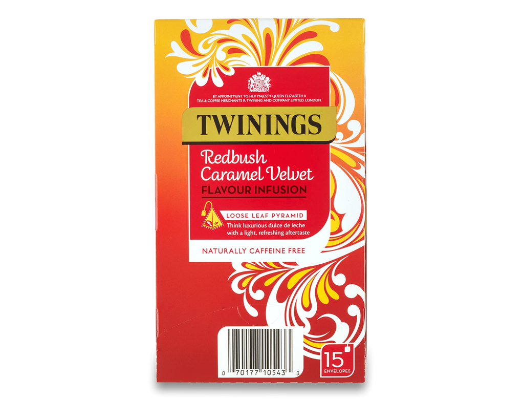 Twinings Redbush Caramel Velvet Pyramid Bag (1x4x15)