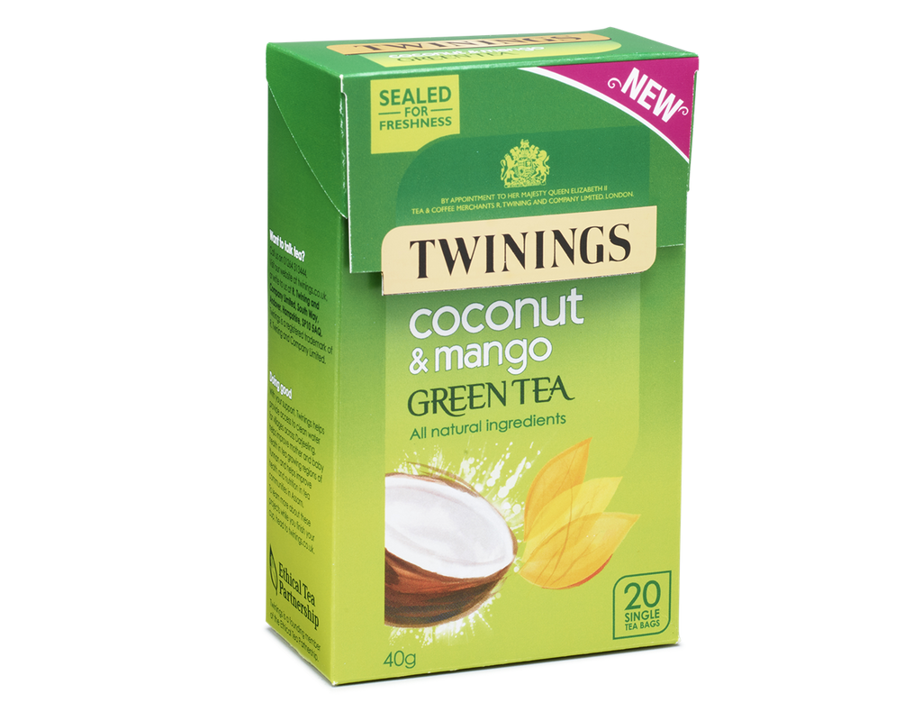 Twinings Green Tea, Coconut and Mango Envelope Tea Bags (1x20)