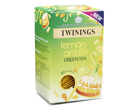 Twinings Lemon Drizzle Indulgence Green Tea Envelope Tea Bags (1x20)