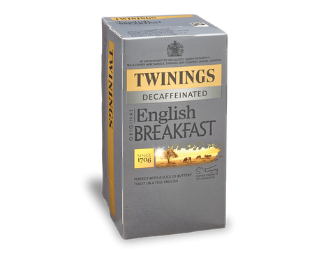 Twinings English Breakfast Decaffeinated Envelope Tea Bags (4x20x2g)