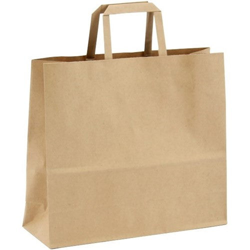 Small Kraft Brown Paper Bag with Handle (250)