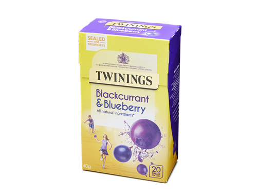 BLACKCURRANT & BLUEBERRY - 20 SINGLE TEA BAGS