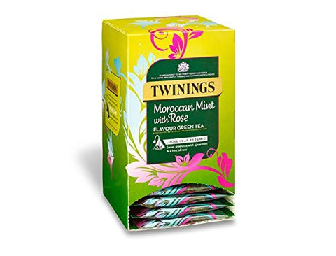 Twinings Moroccan Mint with Rose Tea Silky Pyramid (4x15x2g)